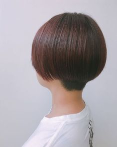 Short Bob Haircuts, Haircuts For Men, Bob Hairstyles, Asian Short Hair, Shaved Nape, Beautiful Haircuts, Shaving, Short Hair Styles, Hair Cuts