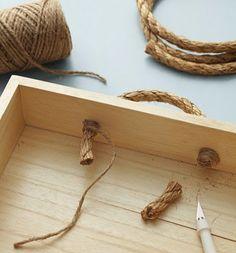 Tu Organizas.: Decoração diy: a versatilidade da corda