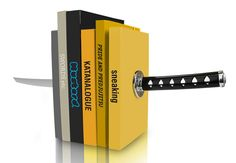 Katana Bookends Holds Your Books Together With an Almighty Stab