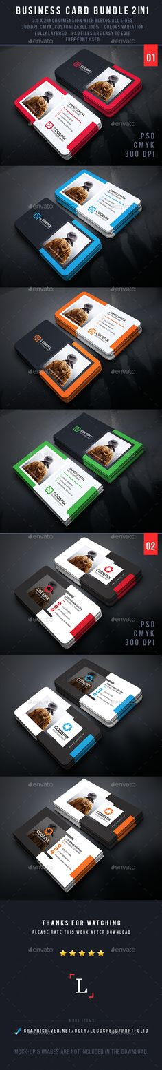 Photography Business Card Bundle Template PSD #design Download: http://graphicriver.net/item/photography-business-card-bundle/13961146?ref=ksioks