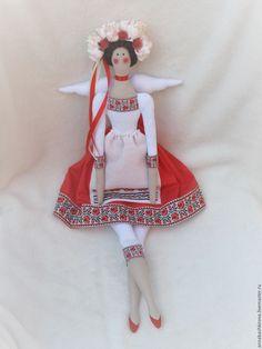 Купить Маричка - ярко-красный, белый, черный, маричка, тильда, тильда ангел, тильда фея