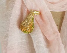 Signed Monet Vintage Pear Rhinestone Brooch - Monet Rhinestone Vintage Jewelry - Vintage Pear Pin with Rhinestones -Vintage Costume Jewelry - Edit Listing - Etsy