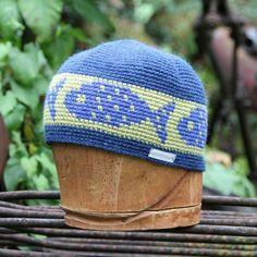 Unisex snowboarding hat, alpaca tapestry crochet kufi by @UpthePitt www.upthepitt.com