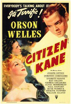 Original Citizen Kane movie poster. Groundbreaking cinematography: http://samhillmedia.com/?p=844