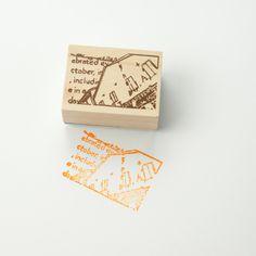 Chamil Garden Wood Rubber Stamp - SCENE D5 by niconecozakkaya on Etsy