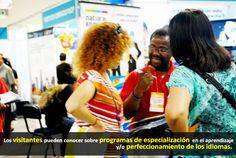Los visitantes pueden conocer sobre programas de especialización  en el aprendizaje y/o perfeccionamiento de los idiomas.