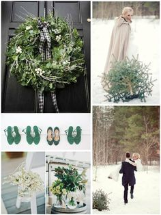 Emerald Green Winter Wedding Inspiration Board