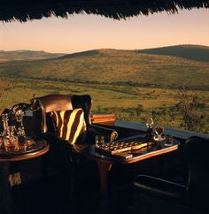 Klein's Camp, Serengeti, TZ -- love this shot -- so romantic -- so Out of Africa