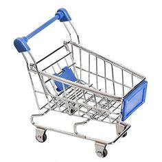 niceeshop(TM) Mini Supermarket Handcart Shopping Utility Cart Mode Desk Storage Toy,Dark Blue *** Check out this great product.