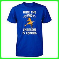 Hide The Candy Charlene Is Coming Halloween Gift - Unisex Tshirt Royal 3XL - Holiday and seasonal shirts (*Amazon Partner-Link)