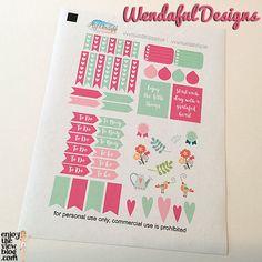 Free Planner Printables: Wendaful Designs #ECLP #planner #freebies #freeprintables
