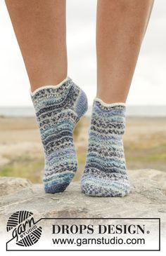 Kurze Socken aus Drops Fabel  www.wollengel.de