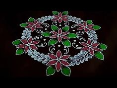 Simple and easy flower design rangoli dot's. Easy chukalla muggu 💮 easy flower design rangoli thanks for watching 🙏🙏 please like share comment below f.