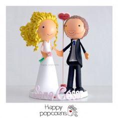 Muñecos fofuchos de boda Sara y César