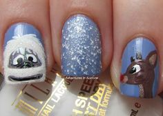 Adventures In Acetone: Digit-al Dozen DOES Festiveness: Ruldolf Movie Nails!