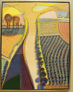 Wayne Thiebaud. River Intersection, 2010. Oil on canvas. Crocker Art Museum, Sacramento