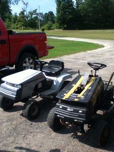 Right hand side- custom mud mower.left hand side-modded mower
