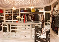 Kris Jenner's closet <3 May I please live in here forever and ever? <3