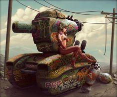 Tank Girl Pepper by StMan.deviantart.com on #deviantART