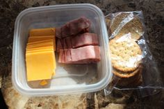 Protein fix- cracker barrel cheddar cheese, sliced him (no nitrate or nitrites added or MSG), whole grain crackers
