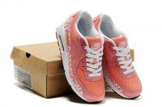 Nike Air Max 90 Dames Schoenen Roze/Wit/Oranje