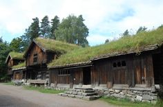 Bear Island • Norsk Folkumuseum by Natalie Madden Stabbur and other farm buildings