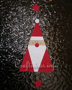 santa christmas craft | Christmas Crafts for Kids - Paper Crafts - Santa Claus Paper Mobile