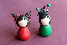 poupée japonaise Cendrine qui fait des chôses ...: Tutoriel Kokeshi