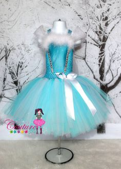 Elsa inspired dress from Disney Frozen by SofiasCoutureDesigns, $75.00