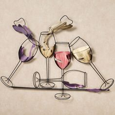 Nurture your love for fine wine and enjoy Celebrations. This steel wall sculpture has purple, white, or red wines that occupy the five black wine glasses. Metal Tree Wall Art, Metal Wall Sculpture, Leaf Wall Art, Metal Wall Decor, Wall Sculptures, Wine Theme Kitchen, Diy Kitchen Decor, Kitchen Themes, Kitchen Wall Art