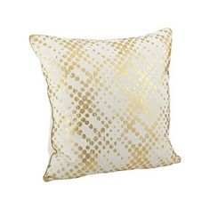 Lustrous Metallic Foil Throw Pillow