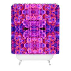 Amy Sia Future 1 Shower Curtain | DENY Designs Home Accessories #pantone #coloroftheyear #radiantorchid