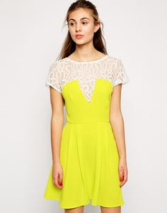 Love Skater Dress with Lace Detail