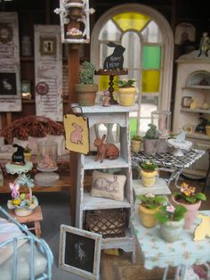 Easter Miniatures for the dollhouse - Lots of photographs with close-up details to inspire - Easter at the Barn by Liberty Liberty