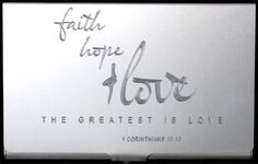 FAITH Love Hope Christian Engraved Business Credit ID Card Holder Gift BUS-0309