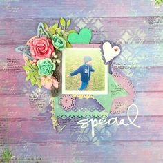 Easy to make scrapbooking layout - tutorial
