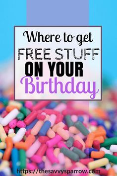 Do you have a birthday coming up? Treat yourself to some birthday freebies! Check out this huge list of 100 Places that will give you free stuff on your birthday! Online Birthday Gifts, 25th Birthday Gifts, It's Your Birthday, Birthday Gifts For Sister, Birthday Stuff, Free On Your Birthday, Get Free Stuff, Free Stuff By Mail, Free Baby Stuff