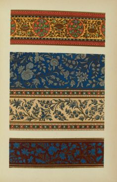 Bedford, Francis, 1816-1894. Indian lacquered work from writing-boxes. Museum of Ornamental Art] London : Day & son, [1857] Chromolithograph. 26 x 16.5 cm. Plate no. [21]. Connect to: http://maca.cdmhost.com/cdm/ref/collection/p1325coll1/id/3787