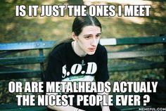 I am a nice metalhead girl, .looking for a nice sexy long haired male metalhead. Band Memes, Death Metal, Emo Rock, Punk Rock, Metal Meme, Kerry King, Metal Fan, Metal T Shirts, Look Alike