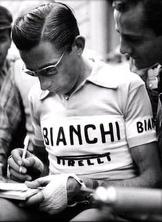On the bike - class. Off the bike - classier. Fausto Coppi, what a man, what a cyclist