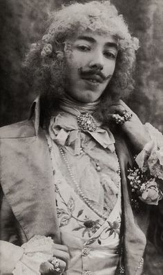 Baron Adolph de Meyer, self portrait 1890s - was one of the 1st fashion photographers
