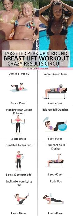 and share if this workout gave your boobs a lift! Click the pin for the full workout. Chest Workout Women, Chest Workouts, Chest Exercises, Toning Workouts, Workout Routines, Fitness Workouts, Fitness Goals, Yoga Fitness, Boot Camp
