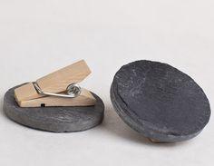 Slate Mini Chalkboard Clothespin Clips