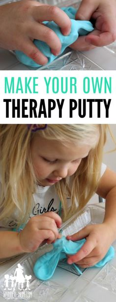 Art therapy activities for kids DIY Therapy Putty - artactivities