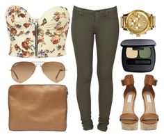 """""""floral & olive."""" by pinkamby ❤ liked on Polyvore"""