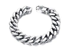Dream Rover Mens Jewelry Heavy Metal Cuban Curb Link Chain Bracelet Men's Stainless Steel Bracelets. Made of high quality 316L stainless steel. Silver color, finishing in high polished. Stainless Steel Chain Bracelet For Men Boys. Length is 20.5-22.5cm, link width is 10-14mm ,Net Wight: 80g. Arrived in 7-15 days.