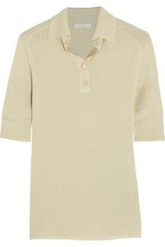 Cashmere and silk-blend polo shirt #shirt #offduty #covetme #Chloé