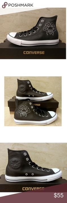 25e943eb277b Sz 8 Converse The Clash Hi Top Leather Sneakers
