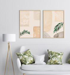 Mid Century Art, Modern Prints, Printable Wall Art, Watercolor Art, Neutral, Minimalist, Etsy Shop, Throw Pillows, Boho