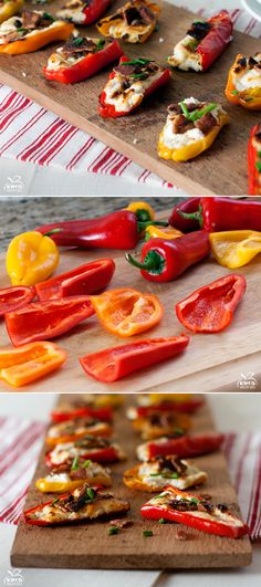 Goat Cheese and Bacon Stuffed Peppers #Recipe #Appetizer